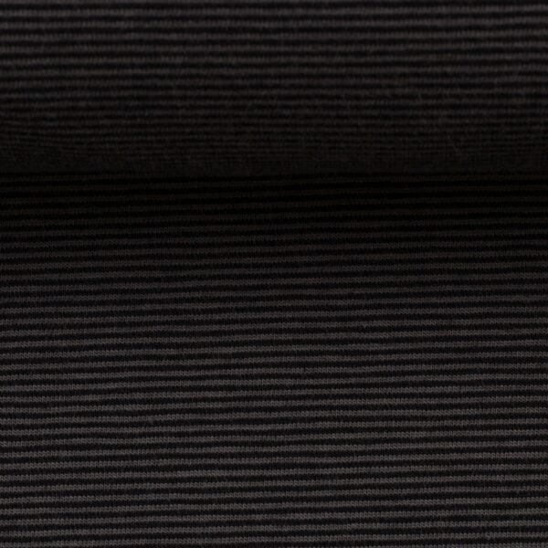 BELLA Ringeljersey schwarz grau 1