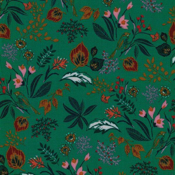 BRIGHT-GREEN-Viskose-Webware-Blumen-smaragdgruen-5