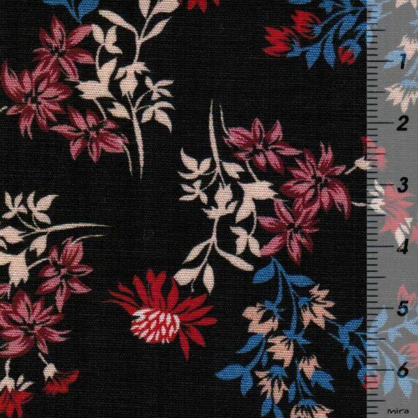 DRIED-FLOWER-PRINT-Baumwoll-Stretch-Blumen-schwarz-rot-blau-10