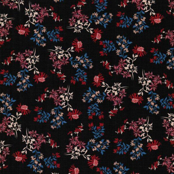 DRIED-FLOWER-PRINT-Baumwoll-Stretch-Blumen-schwarz-rot-blau-9