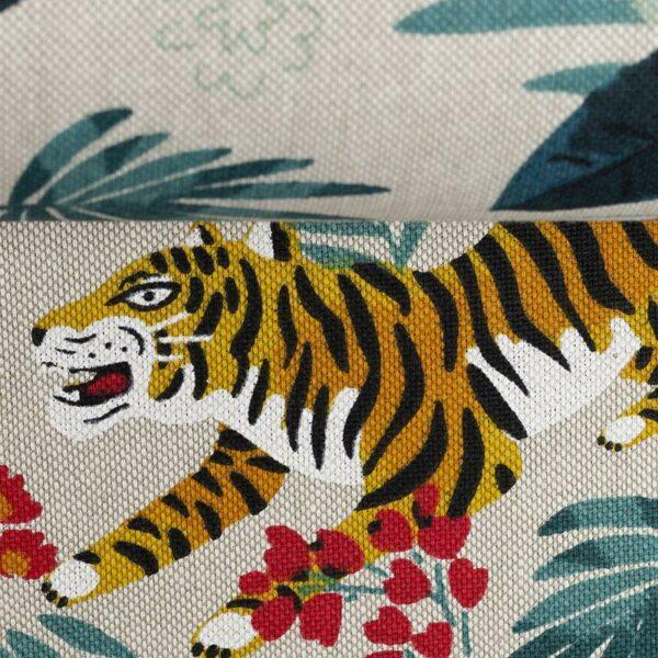 EMMA Canvas Leinenoptik Tiger/Dschungel natur