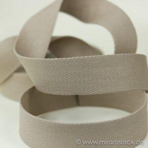 Gurtband Baumwolle beige