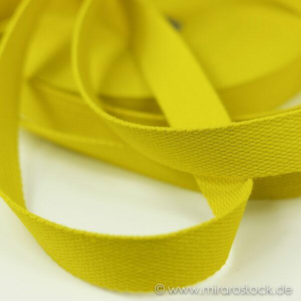 Gurtband Baumwolle gelb