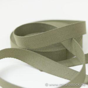 Gurtband Baumwolle khaki