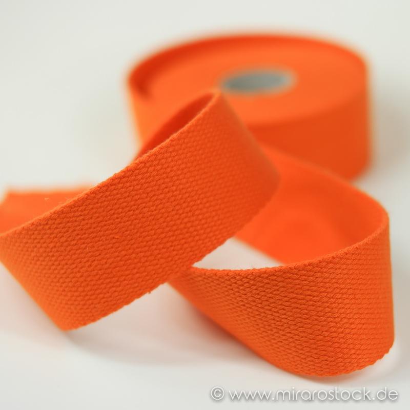 Gurtband Baumwolle orange
