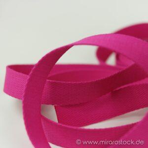 Gurtband Baumwolle pink