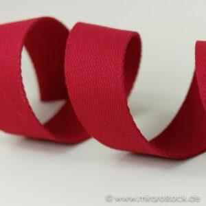 Gurtband Baumwolle rot