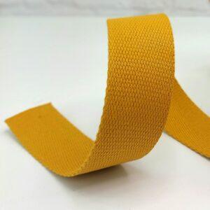 Gurtband Baumwolle senfgelb