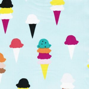 I SCREAM YOU SCREAM Popeline Eistüten pastellmint