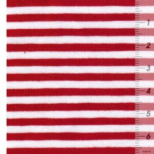 ISA Baumwollljersey rot weiß Zoom
