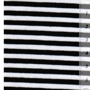 ISA Baumwollljersey schwarz weiß Zoom