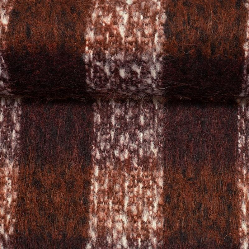 SWAFING-Strick-BIANCA-Wollstoff-Karo-terrakotta-weinrot_258646