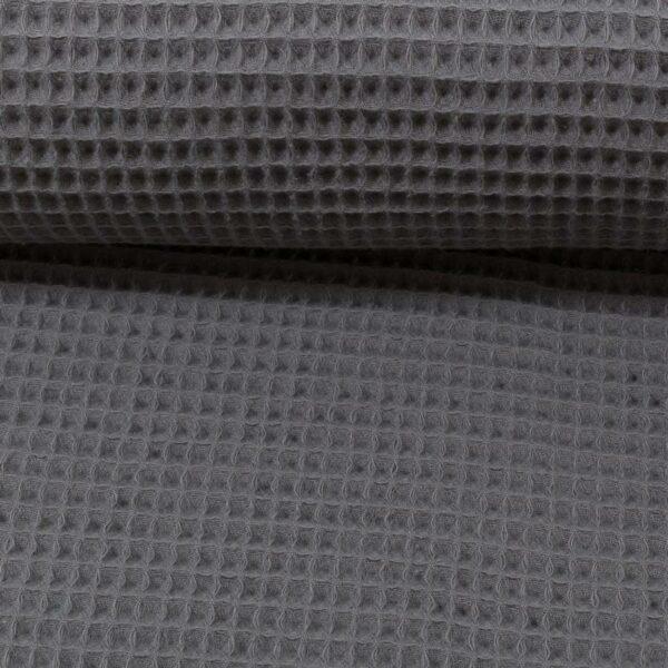 SWAFING-Baumwolle-NELSON-Waffelpique-anthrazit_238608