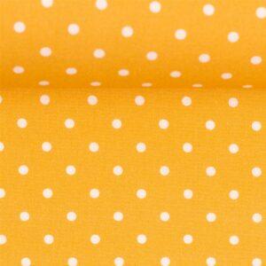 Timo Baumwoll - Webstoff Tupfen gelb weiß