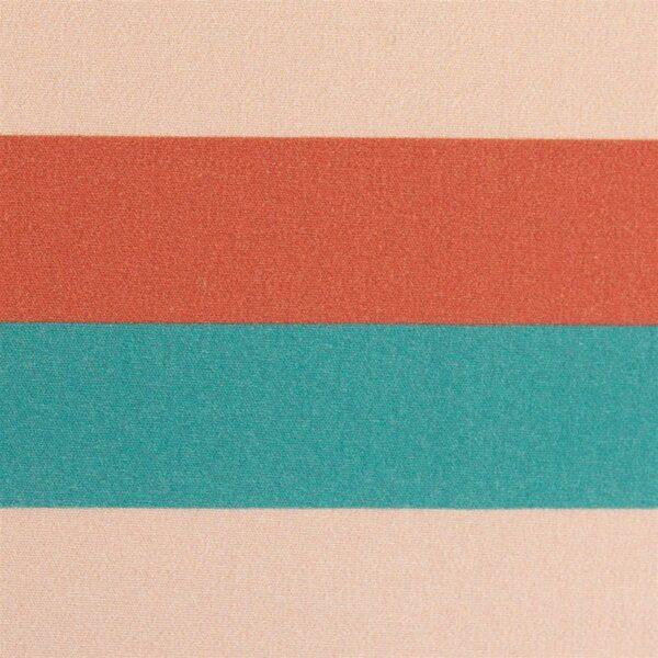 KIM Popeline Blockstreifen 3cm smaragd apricot zoom