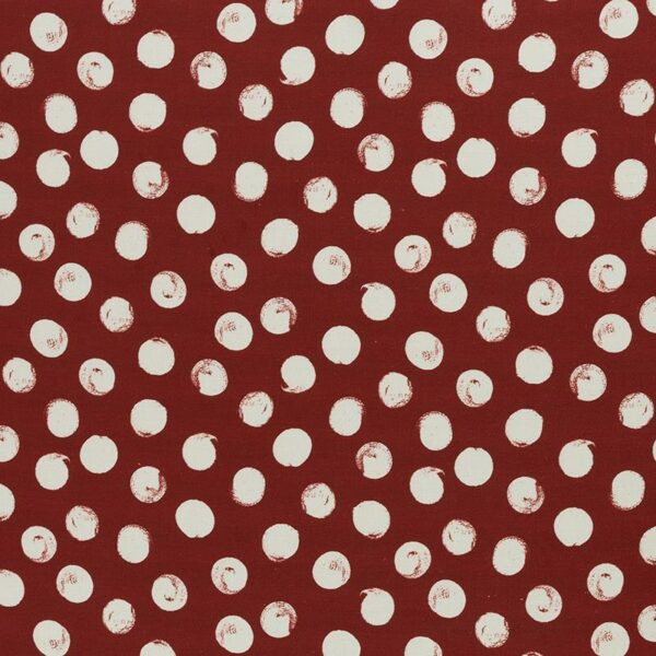 SELMA Viskose-Leinen-Webware Dots weinrot creme total