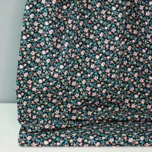 SMALL-FLOWER-GARDEN-Baumwoll-Stretch-Blumen-schwarz-bunt-1